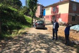 Kalkandere belediyesi yol yapım çalışmaları