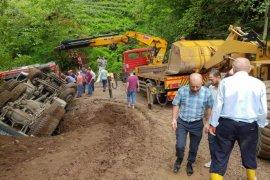 Kalkandere'de Mikser kazası