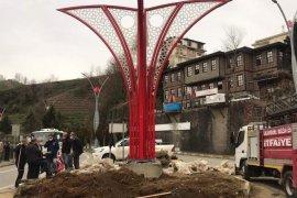 Kalkandere'de Sokak düzenlenmesi yapılıyor