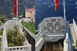 Kaymakamlıktan şehit mezarlıklarina bakım yapıldı