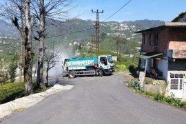 Kalkandere belediyesinden dezenfekte çalışmaları