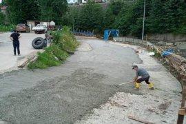 Kurban pazarının betonu döküldü