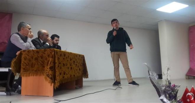 Kalkandere de Liseler Arası Şiir Okuma Yarışması