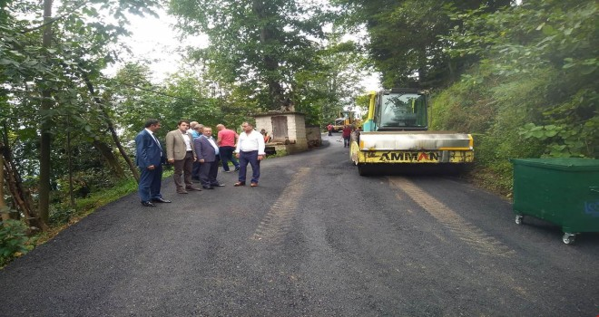 Geçitli İnci Yolbaşı Köyleri Grup Yolu Asfaltlama Çalışması Başladı