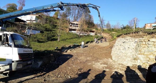 Kalkandere Medrese Mahallesi Betonlama Çalışmaları