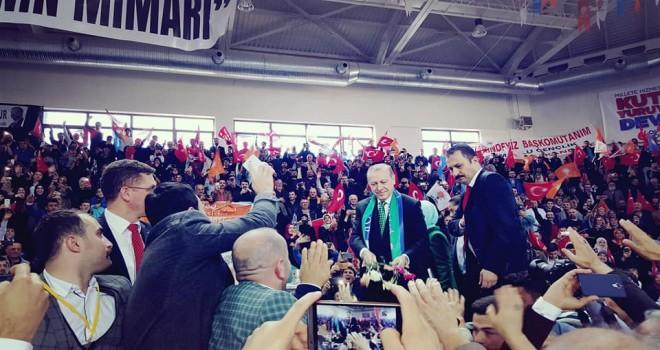 Cumhurbaşkanı Recep Tayyip Erdoğan, Rize'de