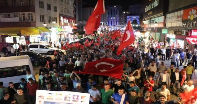 15 Temmuz ve Milli Birlik Günü Yürüyüşü Düzenlendi