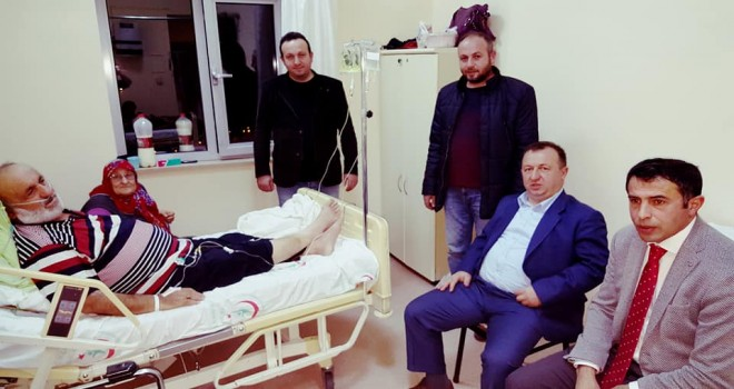 Kalkandere AK Parti ilçe BaşkanlığıHasta Ziyareti