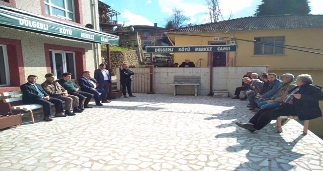 Kalkandere Kaymakamı Dülgerli Köyünde