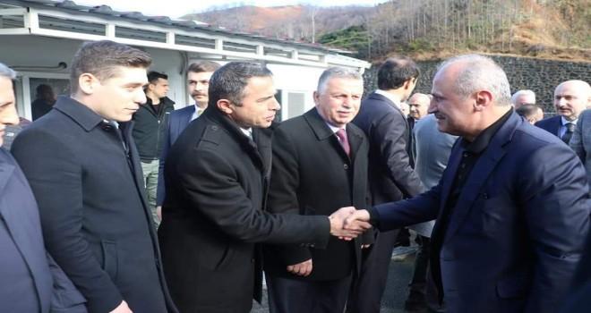 Ulaştırma ve altyapı bakanı sayın Turhan bölgemizdeki alt yapı çalışmalarını yerinde inceledi yerinde