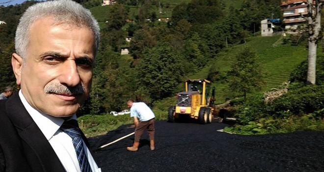 Kalkandere Yokuşlu Köyü Asfaltlama Çalışmaları