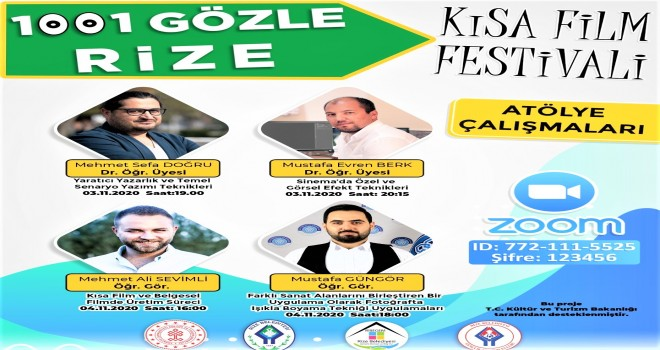 1001 GÖZLE RİZE FİLM FESTİVALİNDE ATÖLYE ÇALIŞMALARI BAŞLIYOR