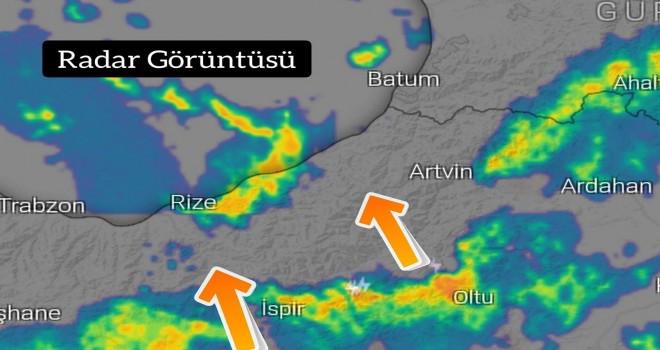 Rize Valiliğinden aralıklı şiddetli yağış uyarısı yapıldı