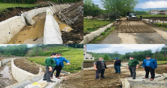 Ormanlı köyü kanal çalışmaları devam ediyor
