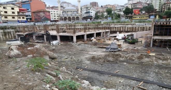 Rize Meydan Projesi Hızla Devam Ediyor