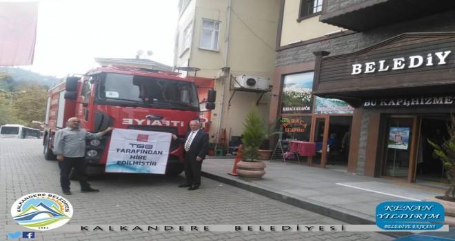 İlçemiz Kalkandere'ye Yeni İtfaiye Hizmet Aracı