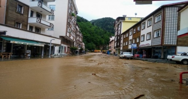 İkizde're ilçesinde sel felaketi