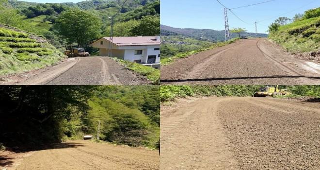 Esentepe köyünde yol yapım ve bakım çalışmaları