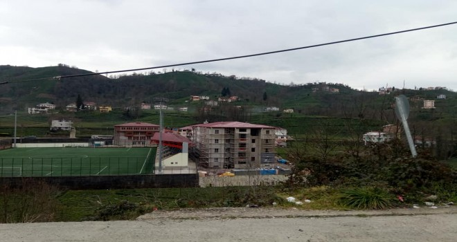 Kalkandere Lisesi Çalışmalar Sürüyor