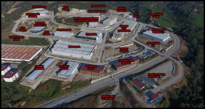 Kalkandere Organize sanayi yerleşim planı