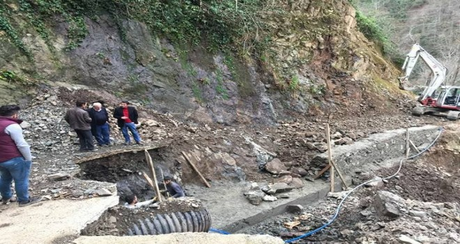Kalkandere Köylerinde Yol Çalışmaları
