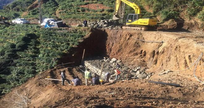 Kalkandere Köylerinde Çalışmalar Sürüyor