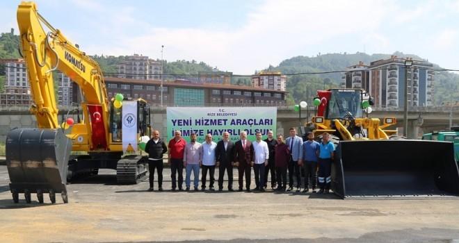 Rize Belediyesi'nden Makine Parkına İki Yeni Araç