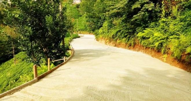 İnci köyü yol betonlanması tamamlandı