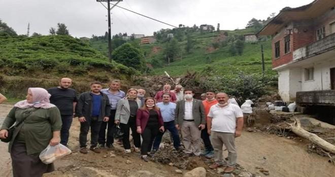 CHP Milletvekilleri Afet Bölgesini Gezdi
