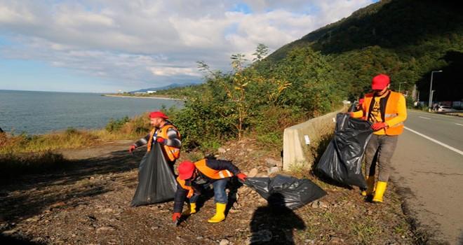 40 ton çöp toplandı!