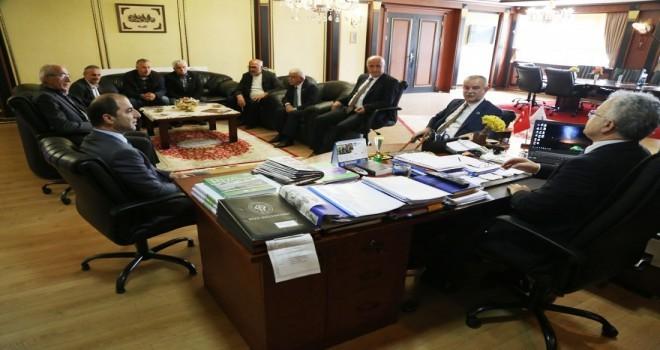 Muhtarlar Derneğinden Başkan Kasap'a Ziyaret