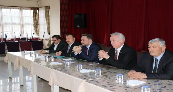 Avcı Kalkandere'deki STK Başkanları ve Esnafla Yatırımları Değerlendirdi