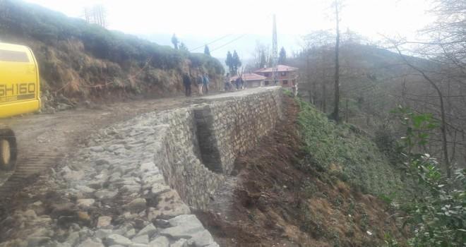 Kalkandere Yolbaşı Köyü Yol Çalışmaları