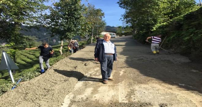 Kalkandere Çağlayan Köyü Betonlama Çalışması