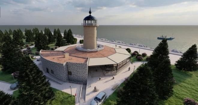 Rize Sahilinde Deniz Feneri Sosyal Tesis Yapımına Başlandı
