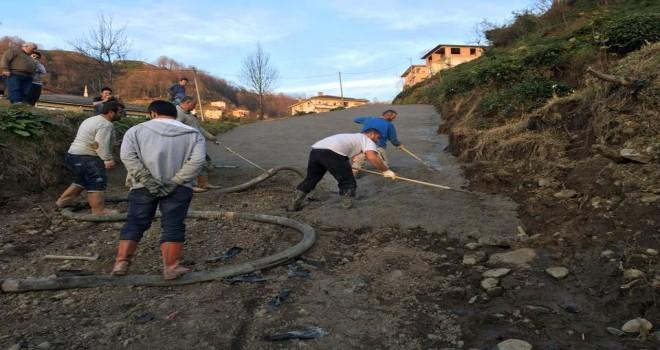 Kalkandere Çağlayan Köyü Yol Çalışmaları