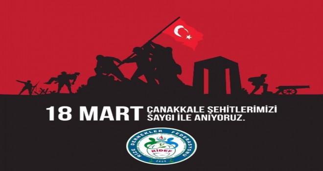 Ridef'ten Çanakkale zaferi mesajı