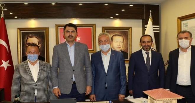 Başkan YILDIRIM, Bakan Murat KURUM'un Rize ziyaretine eşlik etti.