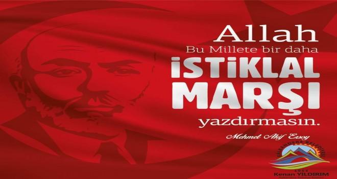 Yıldırım'dan; İstiklal Marşı'nın kabulü ile ilgili tebrik mesajı