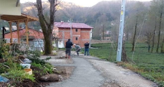 Kalkandere Dağdibi Mahallesi Yol Betonlama Çalışmaları