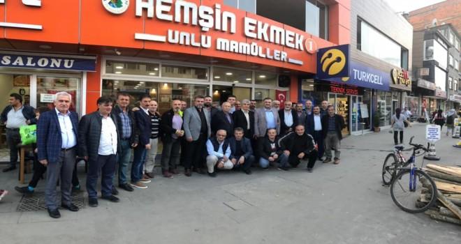 AK Partili gönüldaşlarıyla toplantılar gerçekleştirdi.