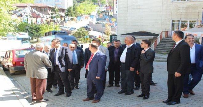 Rize milletvekili Hasan Karal kalkandere'de