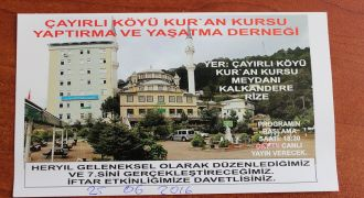 Çayırlı Köyü Kur'an Kursu Geleneksel İftar