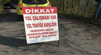 Dülgerli Köyünde yol çalışması