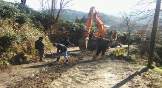 Kalkandere Adalar Mahallesi Yol Çalışmaları