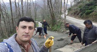 Kalkandere Belediyesi Betonlama Çalışmaları
