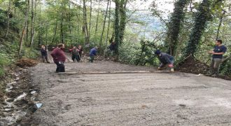 Kalkandere Dülgerli Köyü Betonlama