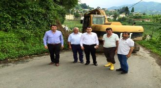 Kalkandere Dülgerli Köyü Yol Çalışması
