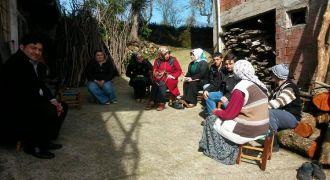 Kalkandere Kadın Kolları Ziyaretleri Sürüyor