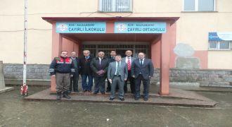 Kalkandere Kaymakamı Çayırlı köyü Okulunda